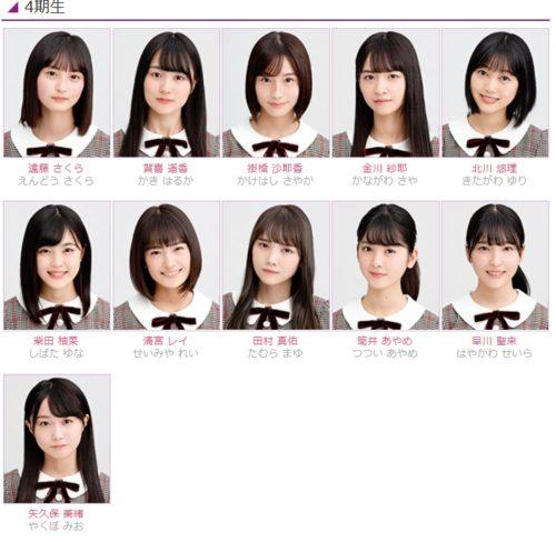 乃木坂4期生の名前と顔画像がついに公表された!メンバー11人を